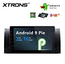 XTRONS Android 9.0 Car Stereo Radio GPS Navigation 9 Inch Touch Screen Slim Design in-Dash Multimedia Head Unit Supports Plug and Play WiFi Bluetooth 5.0 Backup Camera DVR OBD2 TPMS for BMW X5 E53