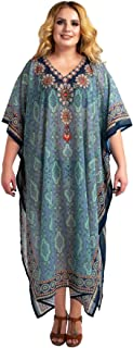 Miss Lavish London Stonework and Hand Embroidered Kaftans Suiting Teens to Adult Women in Regular to Plus Size