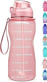 Fidus Large Half Gallon/64oz Motivational Water Bottle with Time Marker & Straw,Leakproof Tritan BPA Free Water Jug,Ensure...