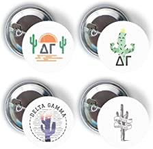 Delta Gamma Sorority Cactus Desert Variety Pack of Buttons Pin Back Badge 2.25-inch DG