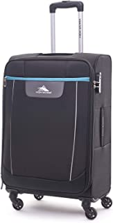 High Sierra Travel Tank Softside Spinner Luggage 81cm with 3 digit Number Lock - Black