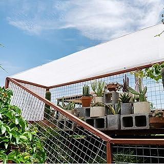 LDFZ 80% Blanco Red De Sombreado, 6 Pines Tela De Sombra, Al Aire Libre Protector Solar Red De Sombra, Apto para Persianas, Flores, Sombra Vegetal, BalcóN, Patio Trasero