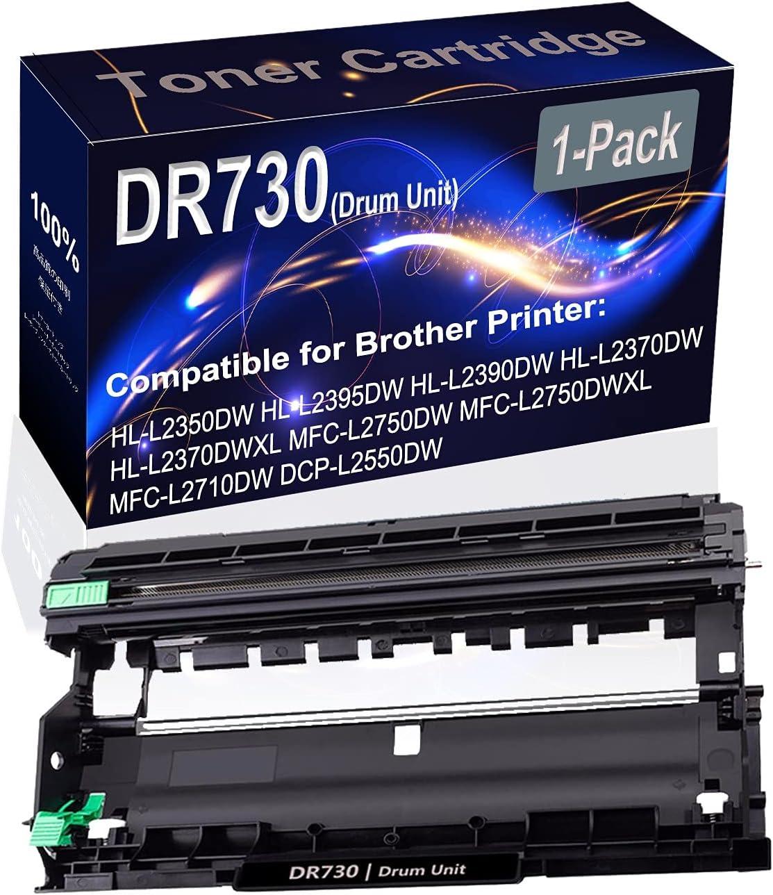 1-Pack Compatible Drum Unit (Black) Replacement for Brother DR730 DR-730 Drum Unit use for Brother HL-L2350DW HL-L2370DW HL-L2370DWXL Printer
