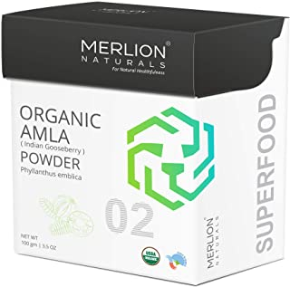 Organic Amla Powder by Merlion Naturals |Superfood | Phyllanthus Emblica | NPOP India and USDA NOP Certified 100% Organic ...