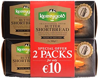 Traditional Irish Butter Kerrygold Shortbread Biscuits, 600g (300g x 2 Packs)…