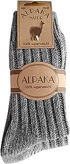 2 Paar Alpaka Socken Wollsocken besonders kuschelig warm für Damen Herren