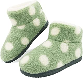 Sponsored Ad - GUMUSSERVI Women's Winter Fuzzy Ankle Bootie Slippers with Memory Foam Anti-Skid Rubber Sole and Plush Lini...