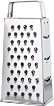 HIC Classic Box Cheese Grater and Slicer, Stainless Steel, 4-Sided, 9-Inch