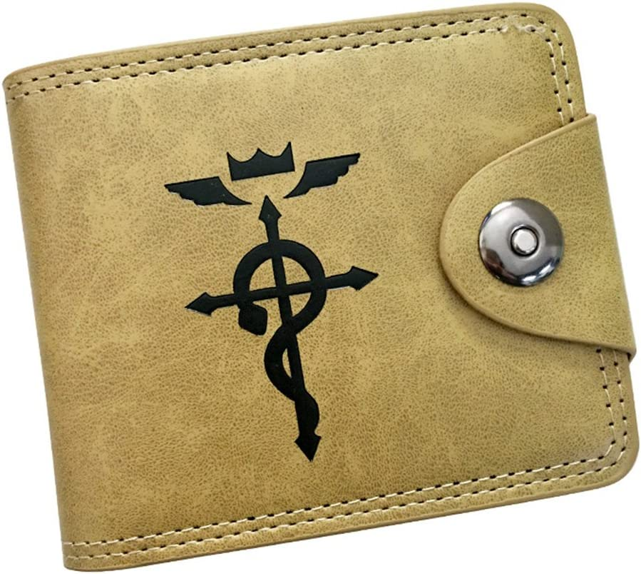 Gumstyle Fullmetal Alchemist Anime Cosplay 10 Slots Bifold Wallet Card Holder Purse 1
