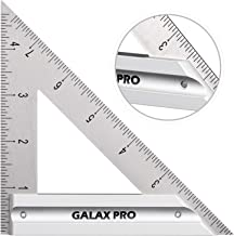 GALAX PRO Professional Carpenter Square Layout 6 inch Stainless Triangle Square tool with Aluminum Alloy Handle, Time savi...