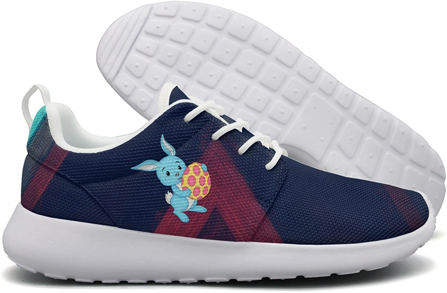Easter bluee Bunny With Egg Women Flex Mesh Ladies Casual shoes