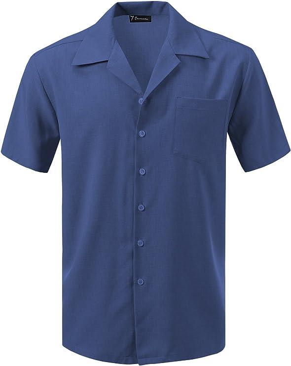 1930s Men's Fashion Guide- What Did Men Wear? 7 Encounter Mens Camp Dress Shirt  AT vintagedancer.com