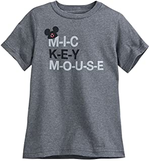 Disney Mickey Mouse Club Mouseketeer Text T-Shirt for Kids Gray