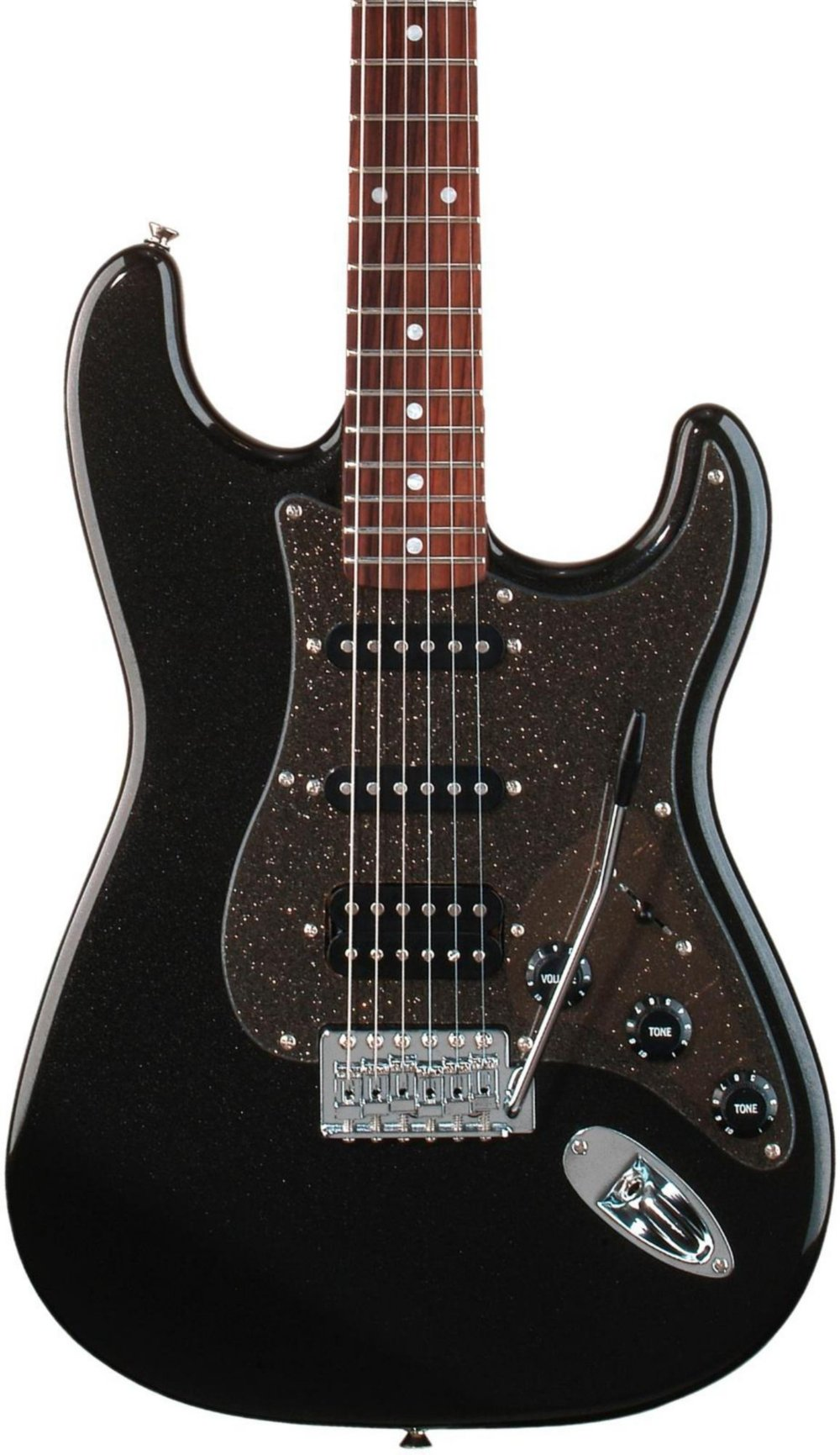 Cheap Squier Affinity Series Stratocaster HSS Electric Guitar Montego Black Metallic Black Friday & Cyber Monday 2019