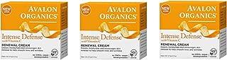 Avalon Avalon organics intense defense with vitamin c renewal cream, 2 oz (set of 3)