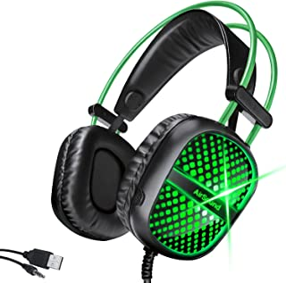 AirSound Alpha-7 Stereo Gaming Headset for PS4 PC Xbox One PS5 Controller, Noise Cancelling Over-Ear Headphones with Mic, ...
