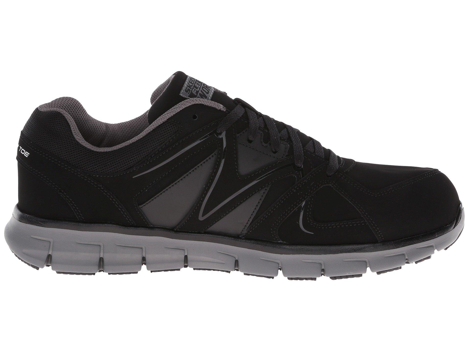 ekron guys Skechers men's synergy-ekron alloy toe work shoe skechers men's synergy-ekron lace up slip resistant athletic alloy toe.