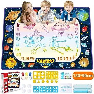JOYSPACE Tapis de Dessin Eau Tapis de Peinture en 9 Couleurs Tapis Eau Magique Idee Cadeau Enfant Jouet Educatif pour Les ...
