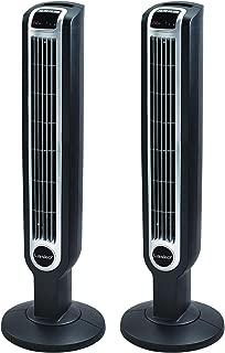 Lasko 36 Inch 3 Speed Quiet Programmable Oscillation Tower Fan w/Remote (2 Pack)