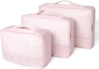 Lace series 3pcs Detachable Travel Luggage Organizer Packing Cubes Laundry Bag