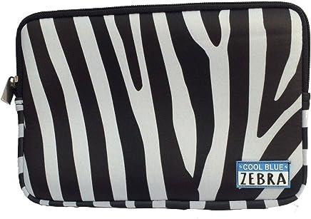Cool Blue Zebra Neopreno Bolsa - Utilidad de la bolsa, la manga de la tableta o iPad Mini, Maquillaje Bolsa - Ideal para su uso con Cool Bag (Zebra Stripe)