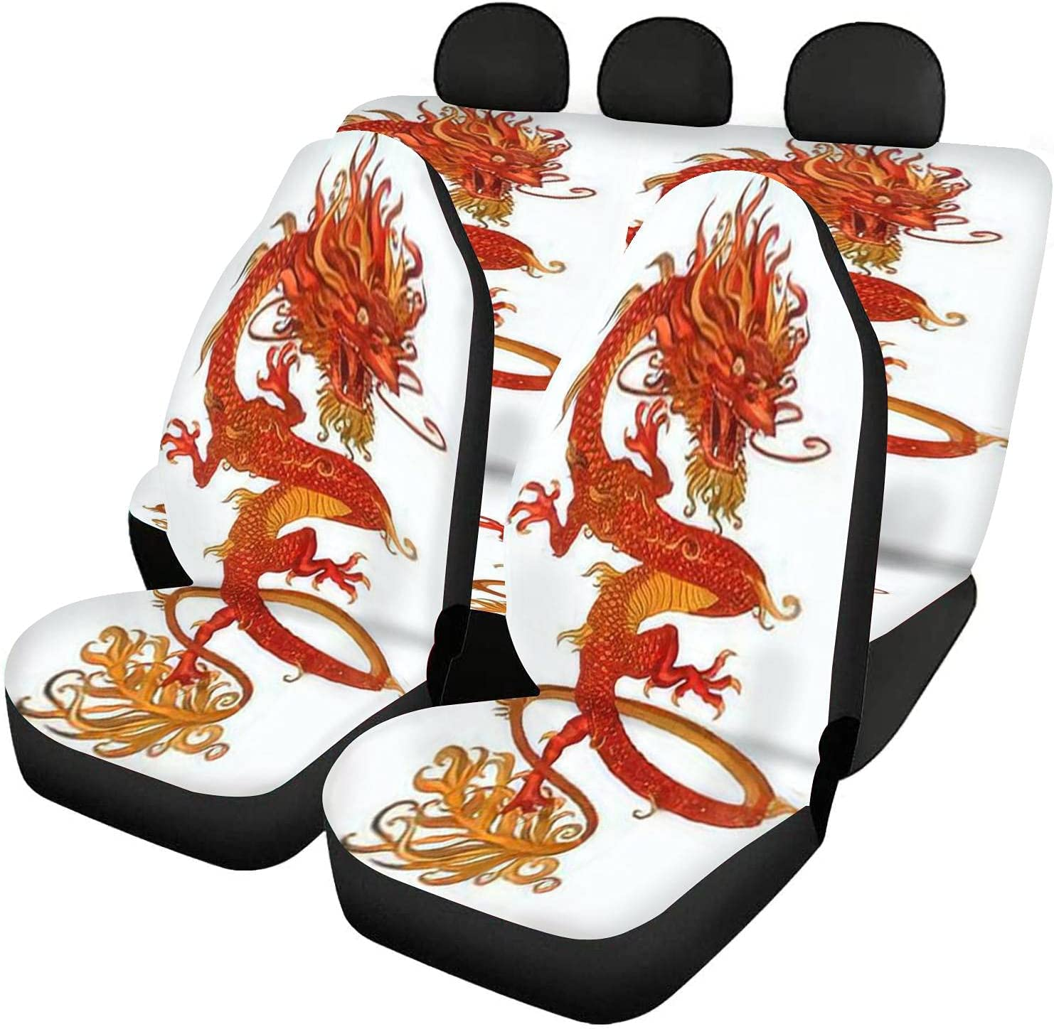 Omaha Mall GDSJEGQM Car Seat Covers Full Set Traditional Drag Chinese Portland Mall - red