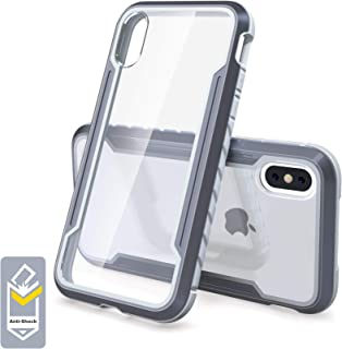 VORCSBINE Case for iPhone X Case/iPhone Xs Case-Clear Protective Case Support Wireless Charging-Grey