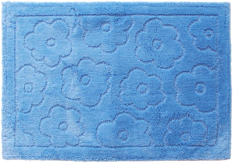 DXG&FX Simple solid-color bathroom mat soft bathroom speed dry non-slip foot mat-C 50x70cm(20x28inch)
