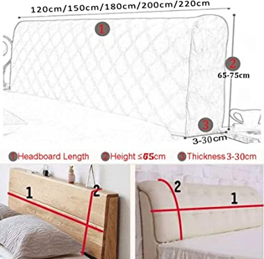 Thicken Elastic BedHead Cover All Inclusive Bed Headboard Cover Solid Color Twin Full Queen King Size Bed Head Back Protectio