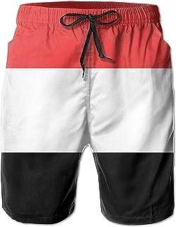 Bernice Winifred Pantalones Cortos de Playa de Secado rápido para Hombre con Bandera yemení