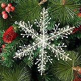 Deggodech 30 Piezas Blanco Copo de Nieve Colgante Adornos para Árbol de Navidad Decoración (23cm)