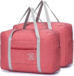 YOODI 2 Piezas Bolsas de Viaje Plegable Ligera Bolsa Maternidad Bolsas de Viaje Mujer Bolsa Ultraligera Plegable Bolso de ...
