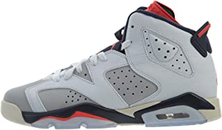 Jordan Kids' Nike Air 6 Retro Bg White/Mango/Green 384665-114