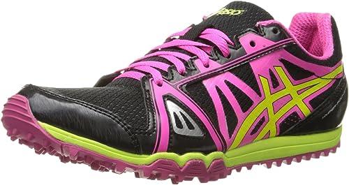 ASICS Wohommes Hyper Rocketgirl XCS Spike chaussures, noir Hot rose Flash jaune, 6 M US