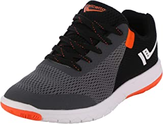 calcetto Latest Collection for Mens Grey Orange Nylon Mesh Sports Shoes