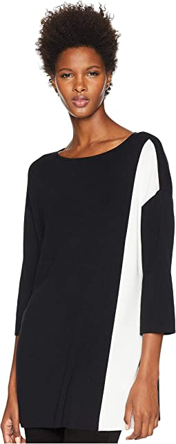 Sleek Tencel Bateau Neck 3/4 Sleeve Top