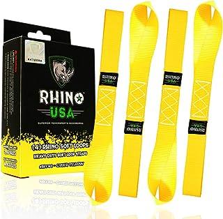 Secure Sling /& Strap U1EW100220002000 Yellow 2 x 20 Tow Strap 20,000 lbs. Break Strength 2x20 w//Reinforced Eyes