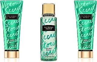 3 Piece Victoria's Secret Snow Mint Fragrance Gift Set- Fragrance Lotion & Fragrance Mist (Snow Mint)