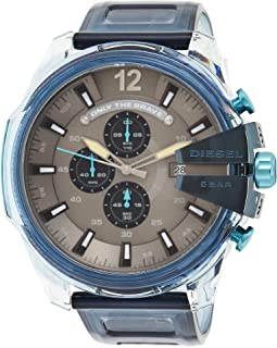 ساعة ميجا تشيف كرونوغراف للرجال من ديزل موديل DZ4487، لون ازرق