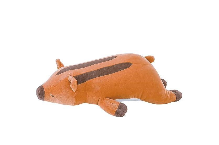 肺炎鮫生産的りぶはあと 抱き枕 プレミアムねむねむ抱きまくら ウリボーのウリリ Mサイズ W50xD21xH15cm 58209-13