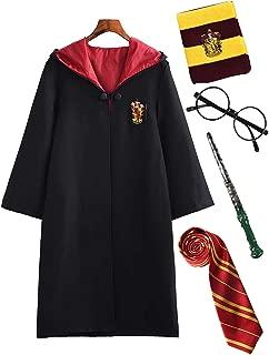 DJSJ- Disfraz Deluxe Infantil Unisex Disfraz Costume Capa Disfraz de Harry Potter para niño Varita mágica Cumpleaños Varita mágica Corbata Bufanda Gafas