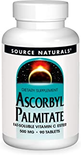 Source Naturals Ascorbyl Palmitate 500mg Fat-Soluble Vitamin C Ester Supplement - 90 Tablets