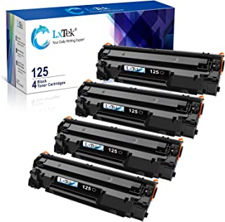 LxTek Compatible Toner Cartridge Replacement for Canon 125 CRG-125 3484B001 to use with ImageClass LBP6000 ImageClass LBP6030w ImageClass MF3010 Laser Printer (Black,4 Pack-HighYield)
