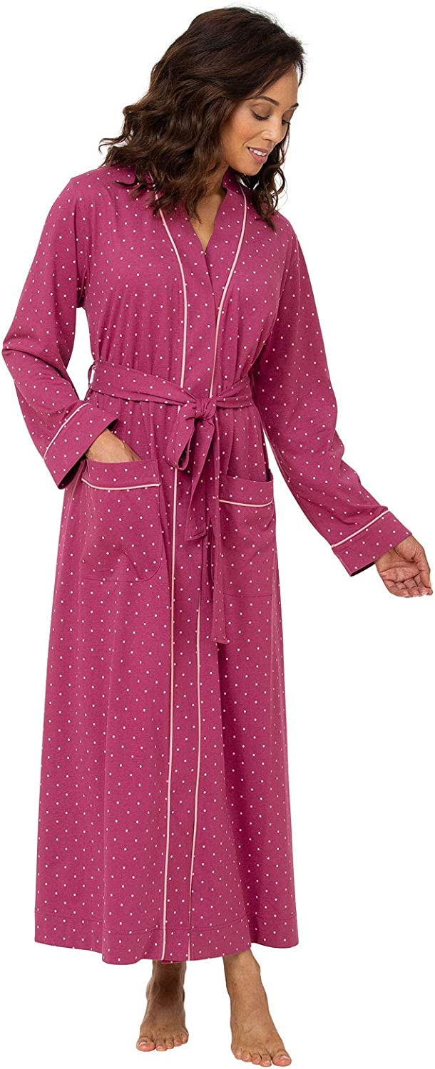 PajamaGram Long Women's Cotton Tulsa Sale special price Mall Robes - Robe Soft Womens