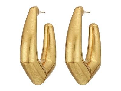 Kendra Scott Kaia Hoop Earrings (Vintage Gold Metal) Earring