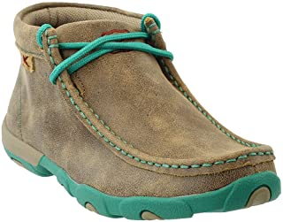 Driving Loafers, Women's Driving Mocs - Bomber/Turquoise