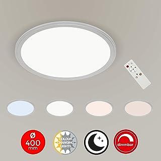 Briloner Leuchten Techo, Panel LED Regulable, Temperatura de Color, función de luz Nocturna