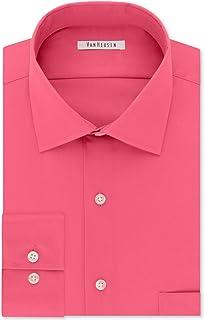Van Heusen Dress Shirt Regular Fit Flex Collar Stretch Solid