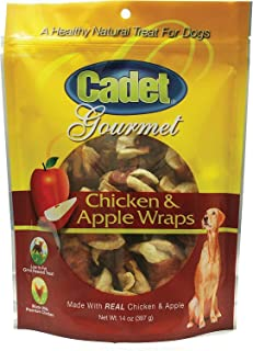 Cadet Chicken & Apple Wraps Dog Chews, Gourmet, 14 Ounce, 6 Pack