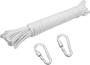 ZKSM Paracord 550 Outdoor touw waslijn scheurvast nylon koord met 2 karabijnhaken voor hondenlijnen, vlaggenstang, tuinmeu...
